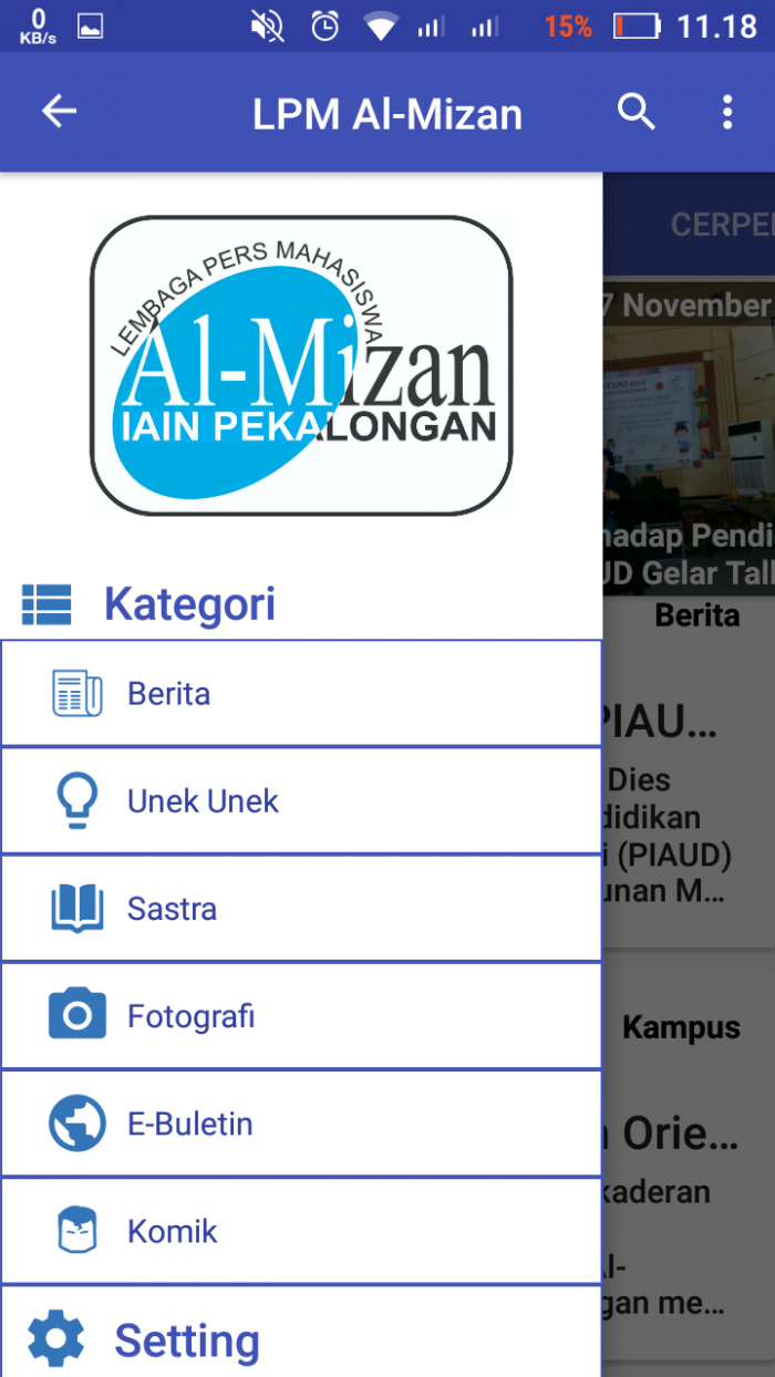 Aplikasi LPM Al-Mizan Android